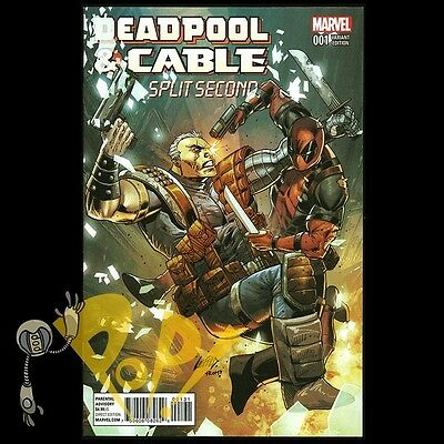 DEADPOOL & CABLE Split Second #1 Rob LIEFELD Variant 1st Print MARVEL Comics NM!