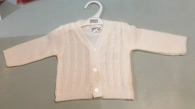 6fda110ea27b PEX BABY boys white v neck knitted cardigan 0-3-6-9 months gift new ...