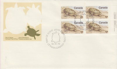 Canada #813 17¢ Endangered Wldlife Ur Plate Block First Day Cover