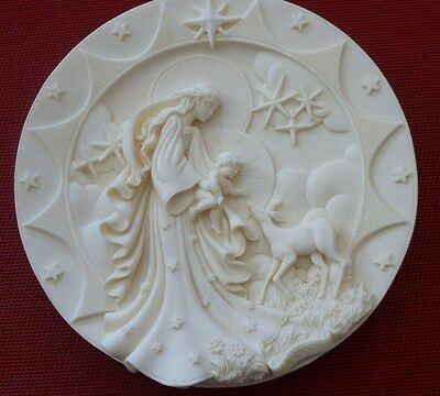 MARY JESUS GENTLE LOVE, ROMAN INC FARO 1997 Millinenium Christmas Plate 7E-1707