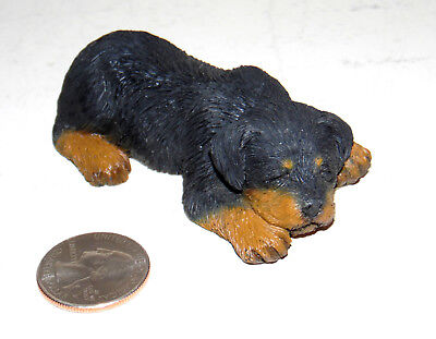 Sandicast Small Lying Rottweiler Puppy Dog Figurine 2001 #s117