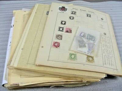 PORTUGAL & COLONIES, Old Time Stamp Collection(2500+) hinged on remainder pages