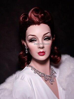 Vintage  Female mannequin wig bust  PAINTED EYES!