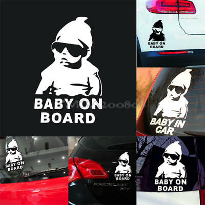 Baby on Board Aufkleber Kind an Bord Hangover Sticker FUN Auto Babyaufkleber