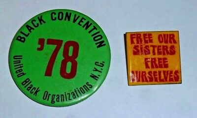 1960-70s Black Power 2 protest pinbacks