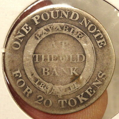 1811 Shilling Nantwich Bank Token, Old Bank, Cheshire  1207-23