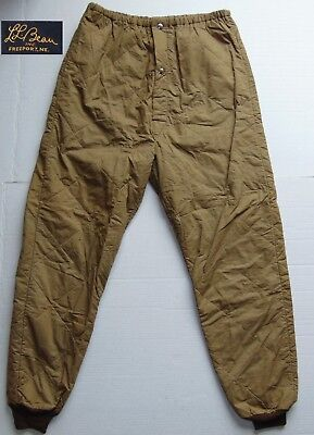 VINTAGE 40s 50s LL BEAN Warmjohns Thermal Pants Beige 34x30 Made in USA VGC