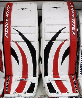 NEW POWERTEK BARIKAD Goal goalie leg pads red/black 28