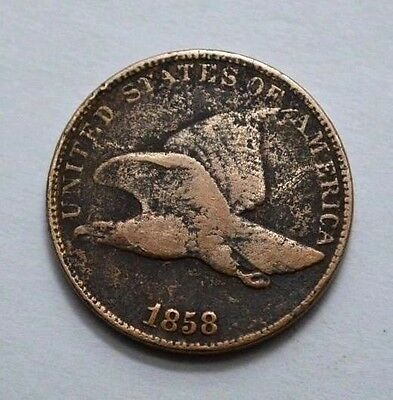 Rare Better Date 1858 Large Letters Flying Eagle Cent Penny VF/XF 1C Coin