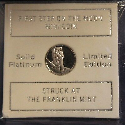 First Step On The Moon Platinum Mini Coin Franklin Mint
