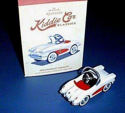 Hallmark ~1958 Chevrolet CORVETTE Kiddie Car Classics~ Ornament - NEW in Box!