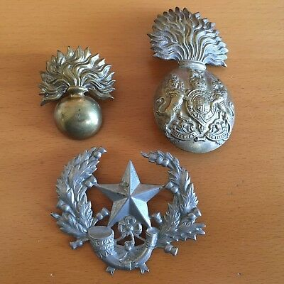 Lot of 3 Highland  other Cap Badges WW1 WWII - Original - Nice!