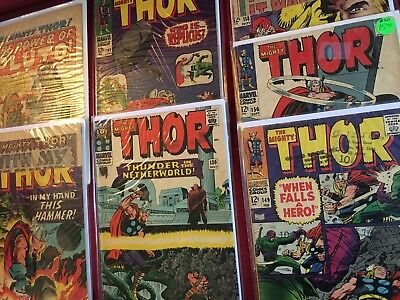 LOT: 7 THOR Silver Age Marvel Comic Books #'s 120, 128?, 130,141, 149, 156, 158