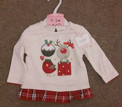 Baby Girls Christmas Top - 0-3 months - BNWT