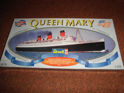 Revell Queen Mary 1:570, GEBRAUCHT, DACHBODENFUND, REVELL, QUEEN MARY, 05770