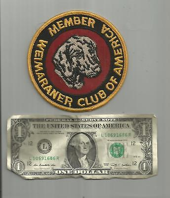 RARE!1950's- 60's VINTAGE WEIMARANER CLUB OF AMERICA HUNTING DOG PATCH OLD TWILL