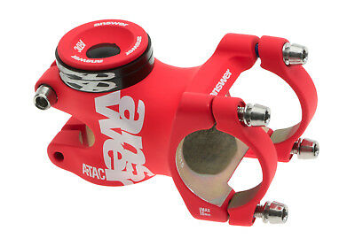 """Answer ATAC AME Stem 50mm Red 31.8mm 1-1/8"""" 0° All-Mountain MTB NEW in box"""