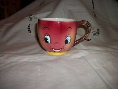 Vintage PY Apple Face Anthropomorphic Cup Japan Smiley Face Coffee Tea Cup