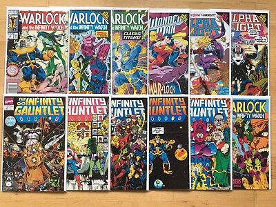 Infinity Gauntlet #1-5 (Marvel, 1991) + Warlock and the Infinity Watch VF/NM