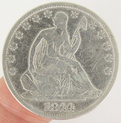 1844 Seated Liberty Silver Half Dollar 50C