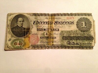 1862 $1 ONE Dollar Legal Tender Note GREEN BACK Starts at 1.00
