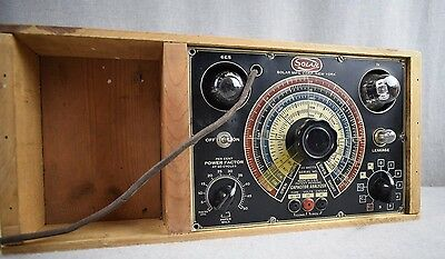 Vintage Solar Capacitor Analyzer Radio tester wood Model CB-160 TESTED Working