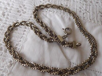 Stunning Vintage 1960s Heavy PLAITED Sterling Silver Necklace
