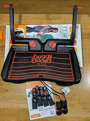 Lascal buggy board mini red boxed, complete uncut connector straps