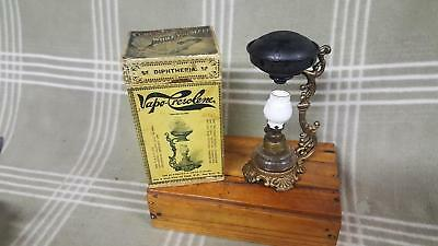 Antique Vapo Cresolene Oil Kerosene Lamp Quack Medicine Vaporizer 1800's w. Box