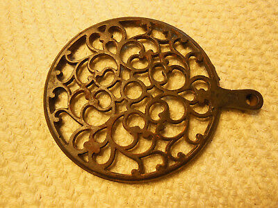 Antique Vintage Cast Iron Warmer Trivet For Wood Buring Stove Or Stove Pipe!!