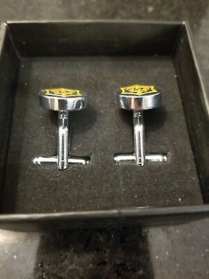 VEUVE CLICQUOT CHAMPAGNE STAR CUFFLINKS NEW IN  BOX Cuff Links