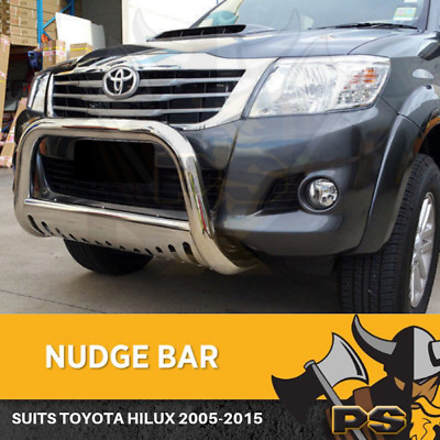 """Nudge Bar to suit Toyota Hilux 2005-2015 3"""" Stainless Steel Grille Guard"""