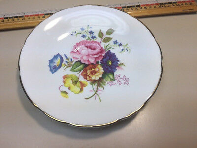 Vintage HM Sutherland Bone China   Saucer England  NO CUP