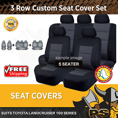 Tailor Made Seat Covers to suit Toyota Landcruiser 100 Series GXL 1998-2007
