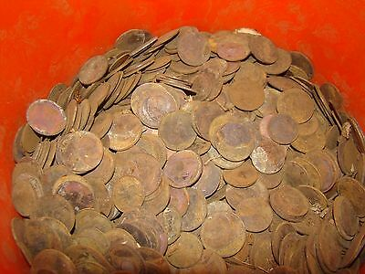 BULK LOT 10+LBS. GREAT BRITAIN ENGLISH LARGE  CENTS AND HALF CENTS 1880 to 1965