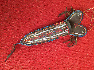 Contemporary Original Woodlands Indian Quilled Scabbard
