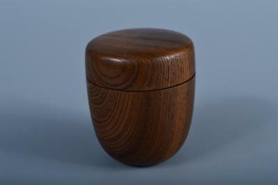 J6596: Japanese Wooden TEA CADDY Natsume Chaire Tea Ceremony