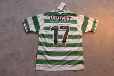 Match Issued Ian Wright Owned Celtic Club Shirt Authentic Scottish Football 1999