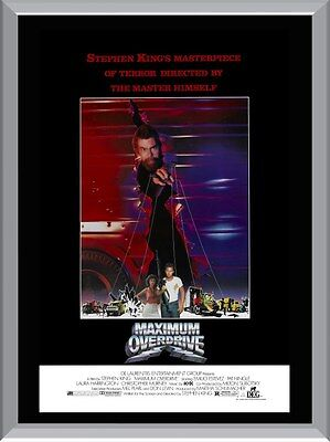 Maximum Overdrive A1 To A4 Size Poster Prints
