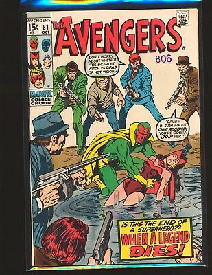 Avengers # 81 VF Cond.