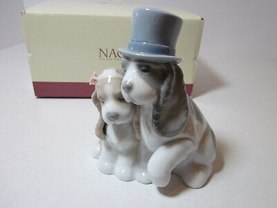 Nao By Lladro  Rare Figurine # 1480 Together Forever Retired Mint In Box
