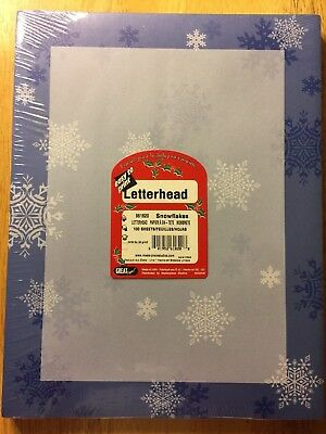 Great Papers! SNOWFLAKES Christmas Holiday Letterhead 100 sheets