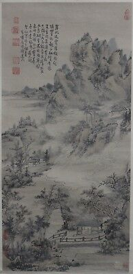 China Hand Painting Ancient Mountain Sansui