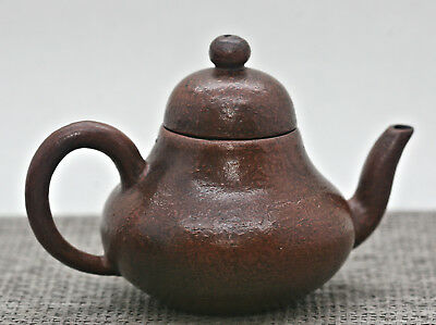 Stunning Antique Genuine Yixing Zisha Orange Peel Traditional Teapot Signed
