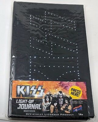 "KISS ""LIGHT UP JOURNAL"" Notebook KISS LOGO LIGHTS UP NEW IN PACKAGE"