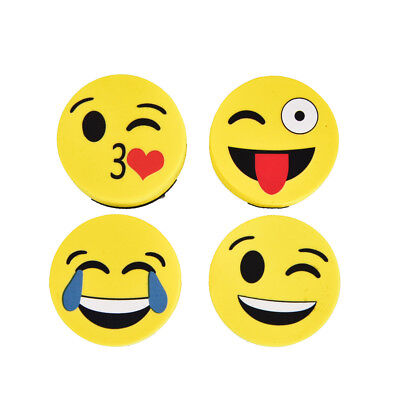 Cute Yellowe Emoji Face White Board Blackboard Dry Wipe Marker Cleaner Eraser FT