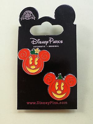 Disney Trading pins Mickey Mouse / Minnie Mouse pumpkin heads HALLOWEEN