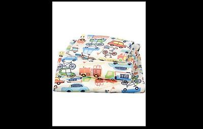 Baby Boy Cot Sheet Set Rush Hour Toshi