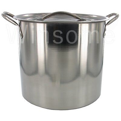 Stainless Steel Vegetable Chicken Soup Stewing Stock Pot Boiling Pan With Lid