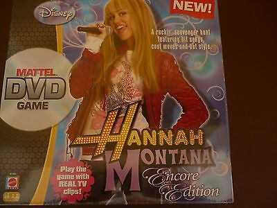 Disney Hannah Montana Mattel DVD Game. Encore Edition. Sealed